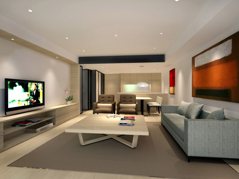 Marco Polo Service Apartments_13 Unit-one-living room