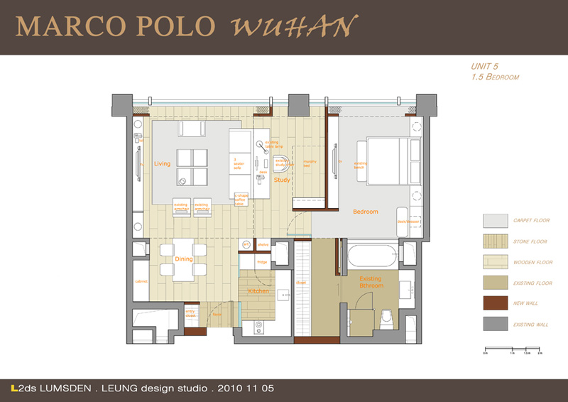 Marco Polo Service Apartments_20 floorplan unit five