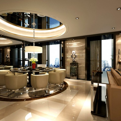 service apartment interior design_luxury honey scheme_ 1